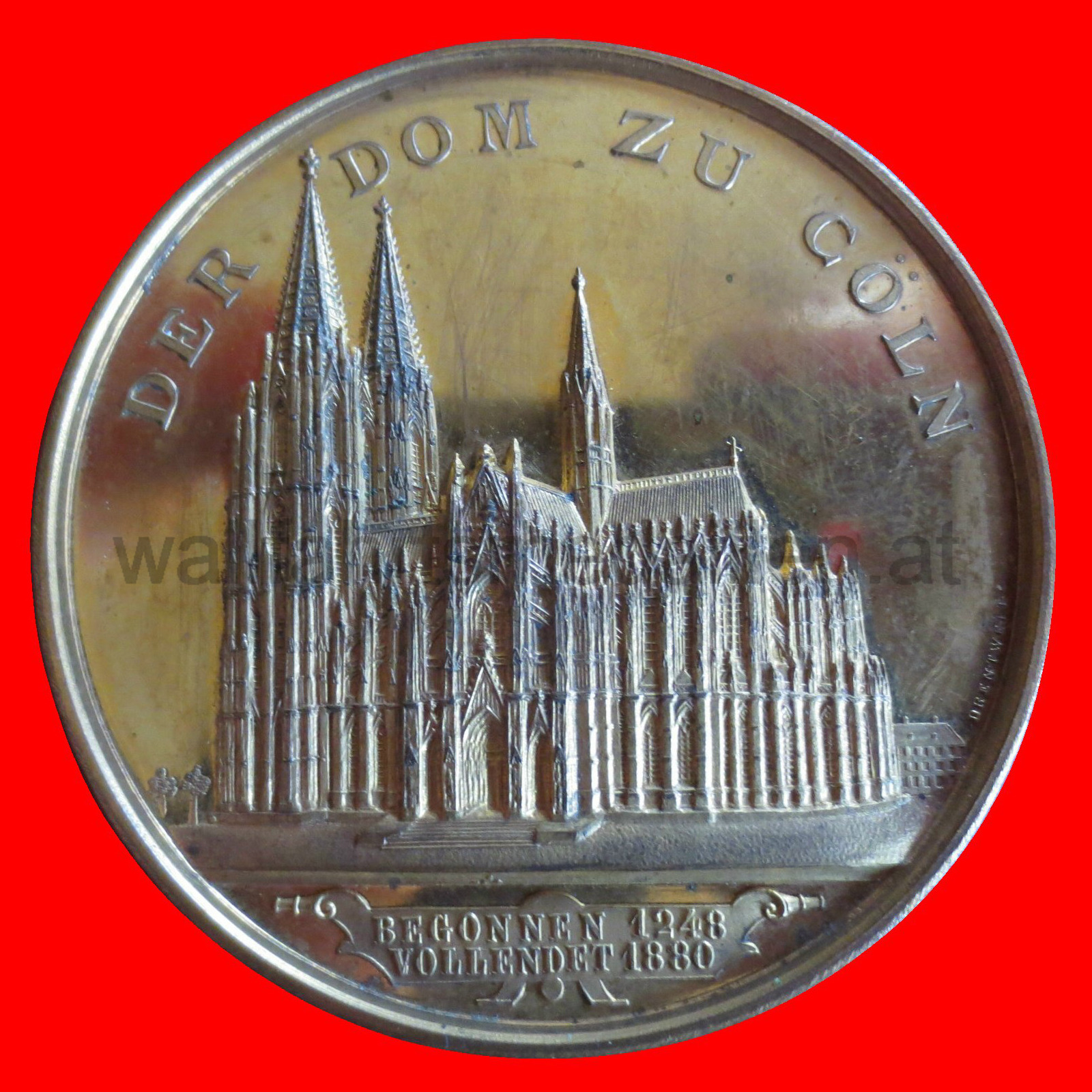 Medaille auf die Fertigstellung des Kölner Domes