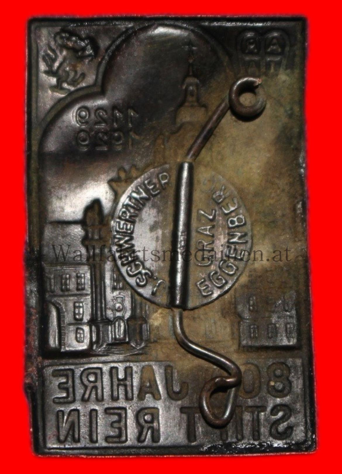 Plakette (mit Nadel) zur 800 Jahrfeier von Sift Rein