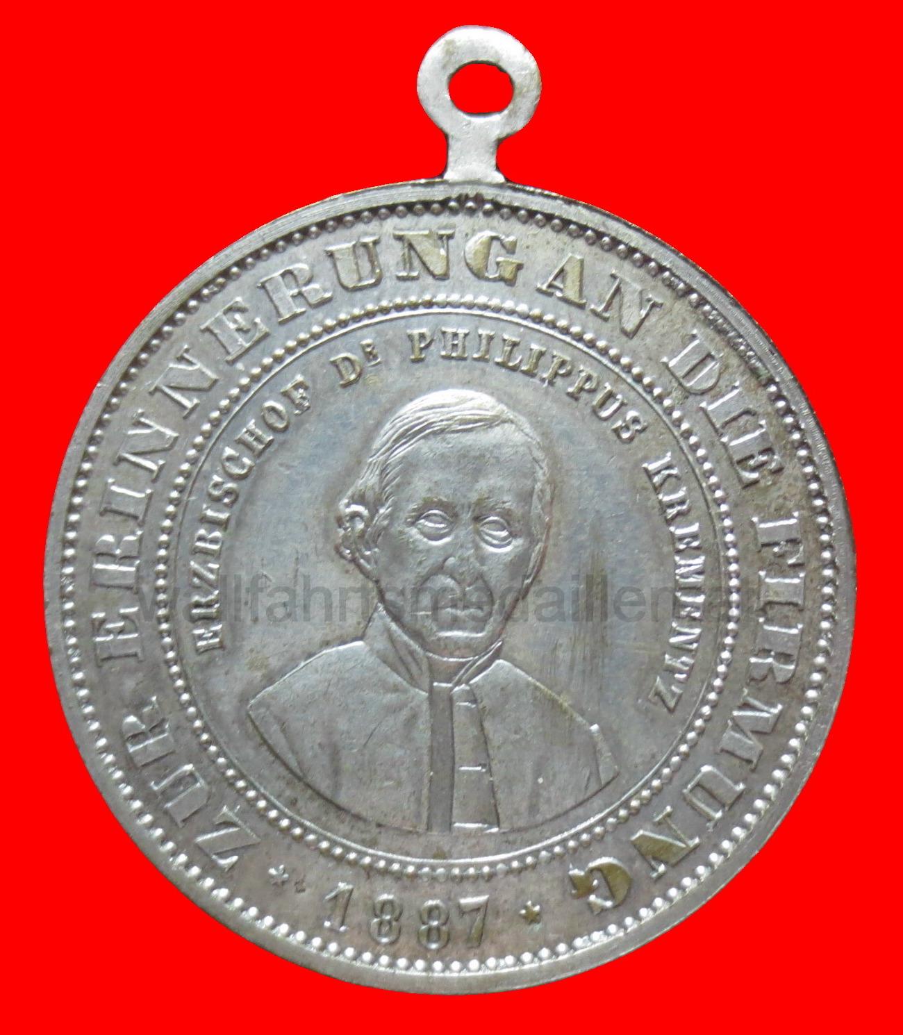 Medaille zur heiligen Firmung